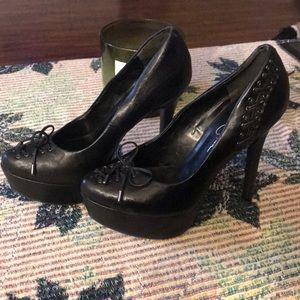 Jessica Simpson corset  heels